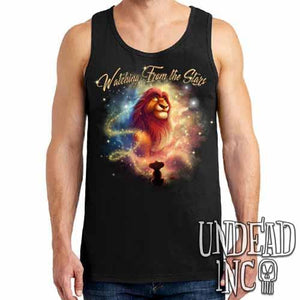 "Lion King Mufasa ""Watching from the Stars"" - Mens Tank Singlet"