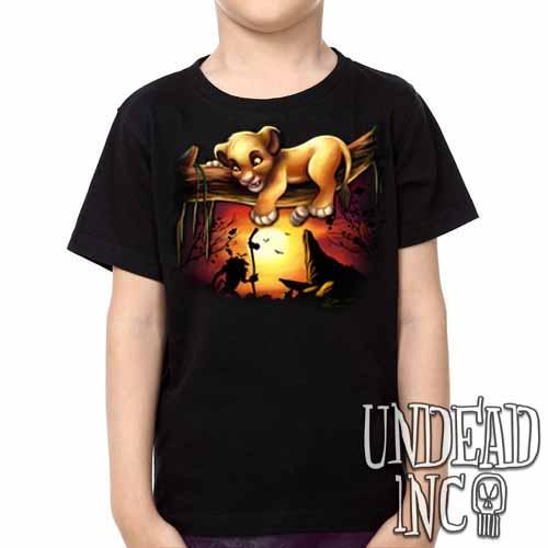 Lion King Simba Sunset Pride Rock -  Kids Unisex Girls and Boys T shirt Clothing