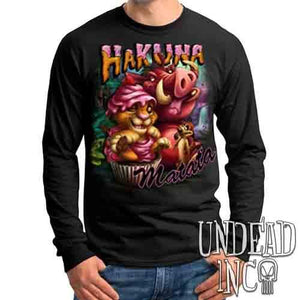 Lion King Cupcake Simba Timon & Pumba - Mens Long Sleeve Tee