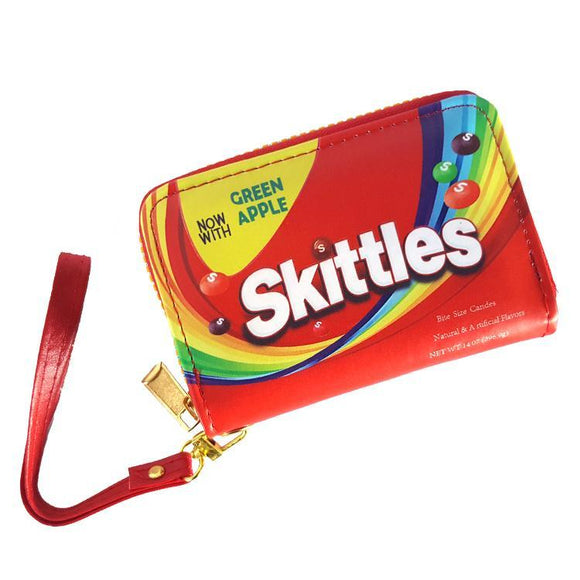 Skittles Candy Short Style PU Leather Wallet