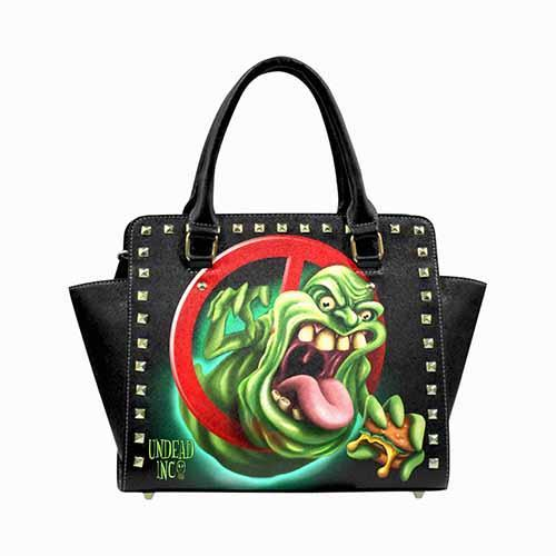 Ghostbusters Slimer Undead Inc Premium PU Leather Stud Detail Shoulder / Hand Bag