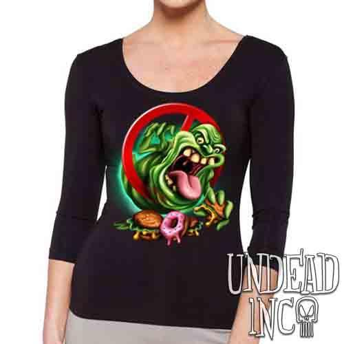 Slimer - Ladies 3/4 Long Sleeve Tee
