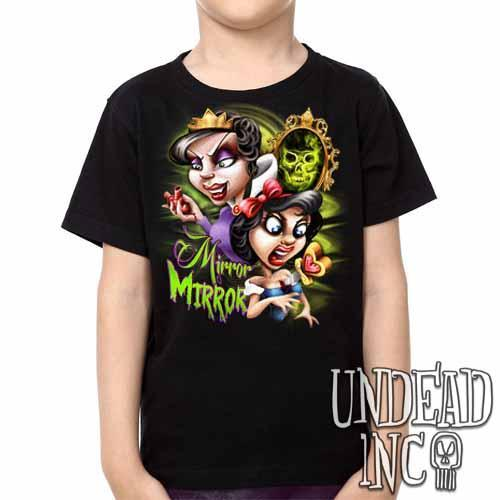 Snow White Mirror Mirror - Kids Unisex Girls and Boys T shirt Clothing