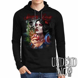 "Snow White Poison Apple ""Sleeping Death"" - Mens Long Sleeve Hooded Shirt"