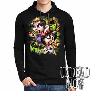 Snow White Mirror Mirror - Mens Long Sleeve Hooded Shirt