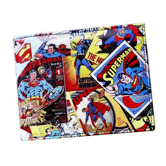 Superman Comic Book PU Leather Bifold Wallet