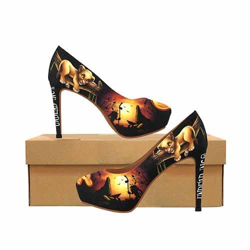 The Lion King Simba Platform High Heels