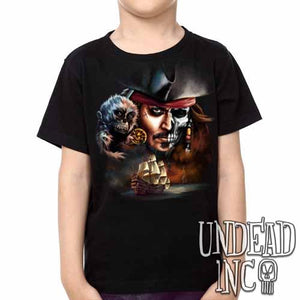 Pirates Of The Caribbean Undead Jack Sparrow - Kids Unisex Girls and Boys T shirt