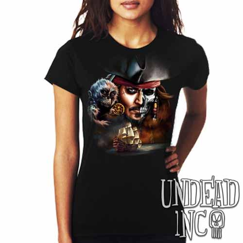 Pirates Of The Caribbean Undead Jack Sparrow - Ladies T Shirt