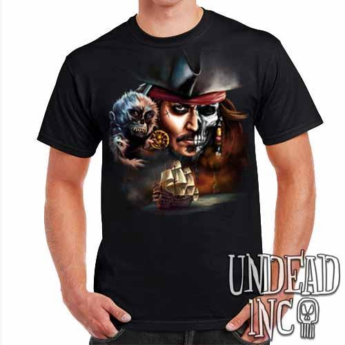 Pirates Of The Caribbean Undead Jack Sparrow - Mens T Shirt