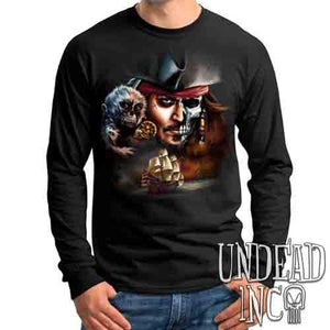Pirates Of The Caribbean Undead Jack Sparrow - Mens Long Sleeve Tee