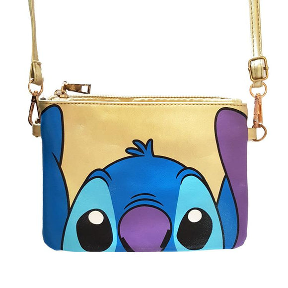 Stitch Golden Metallic Cross Body / Shoulder Bag