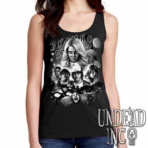 Stranger Things - Ladies Singlet Tank Black & grey