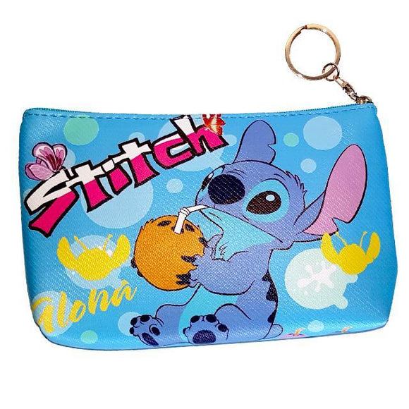 Stitch Aloha Pu Leather Makeup Cosmetics Bag
