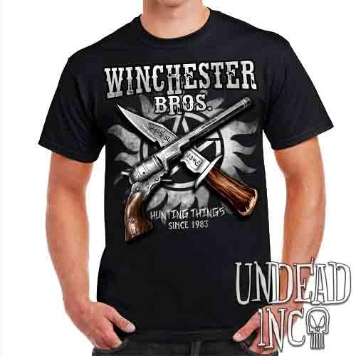 Winchester Bros. Hunting Things - Mens T Shirt Mens T-shirts Undead Inc