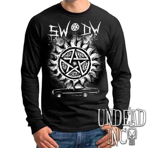 Supernatural Impala Sigils - Mens Long Sleeve Tee