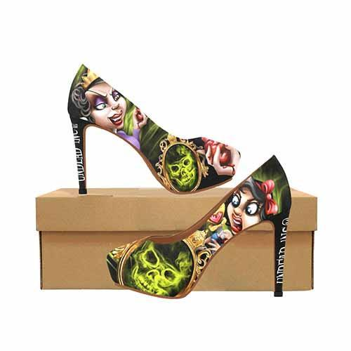 Snow White & Evil Queen Twisted Fairytale Platform High Heels