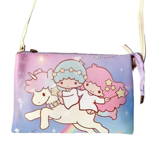 Sanrio Little Twin Stars Gemini Unicorn Shoulder Messenger Bag / Clutch