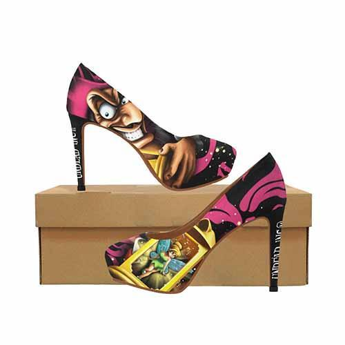 Peter Pan Tinkerbell & Villains Hook Platform High Heels