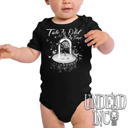 Tale As Old As Time Enchanted Rose Black & Grey - Infant Onesie Romper