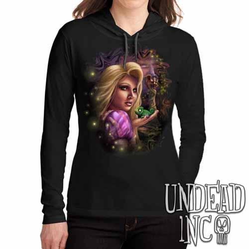 Tangled - Ladies Long Sleeve Hooded Shirt Long Sleeve T Shirt Undead Inc