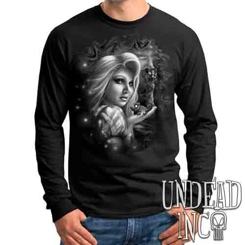 Tangled Black & Grey - Mens Long Sleeve Tee