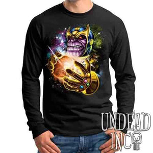 Thanos Destroyer Of Worlds - Mens Long Sleeve Tee