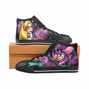 Alice In Wonderland Cheshire Cat That Way Men's Classic High Top Canvas Shoes - Undead Inc Men's High Top Canvas,