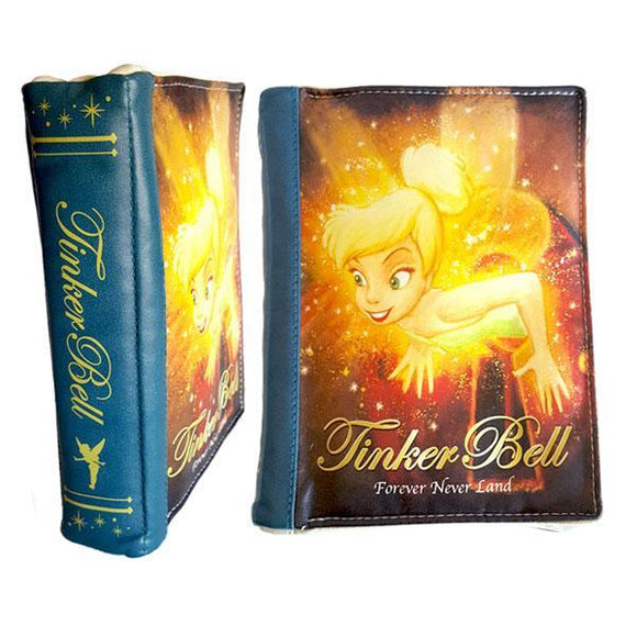 Disney Tinkerbell Forever Never Land Story Book Makeup Cosmetics Bag - Undead Inc Cosmetics Bag,