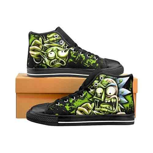 Toxic Rick Men's Classic High Top Canvas Shoes