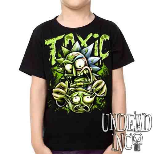 Rick Turning Toxic -  Kids Unisex Girls and Boys T shirt Clothing