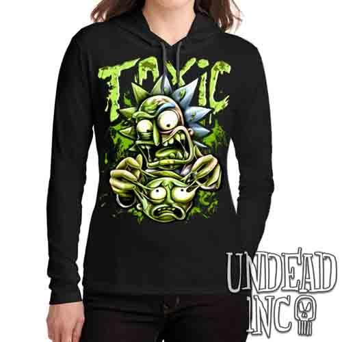 Rick Turning Toxic - Ladies Long Sleeve Hooded Shirt