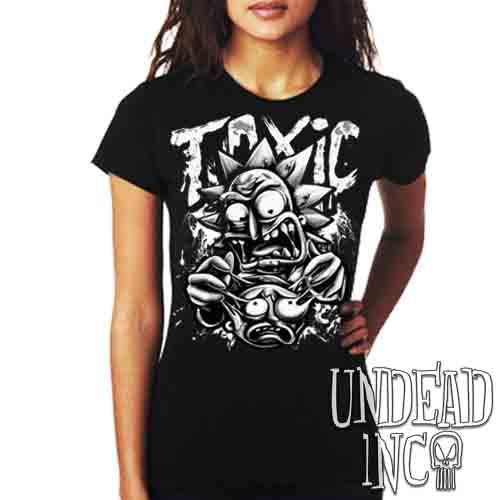 Rick Turning Toxic Black & Grey - Ladies T Shirt