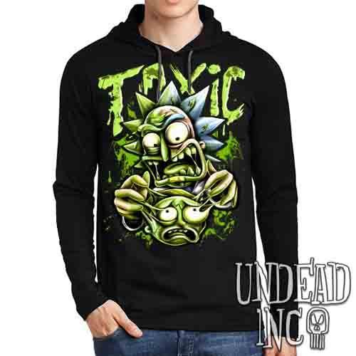 Rick Turning Toxic - Mens Long Sleeve Hooded Shirt