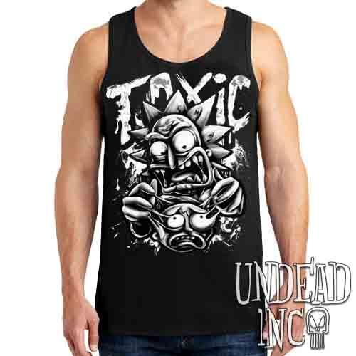 Rick Turning Toxic Black & Grey - Mens Tank Singlet