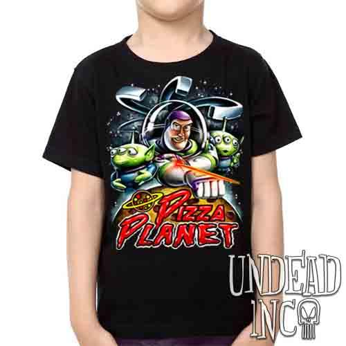 Pizza Planet Buzz - Kids Unisex Girls and Boys T shirt Kids T-shirts Undead Inc