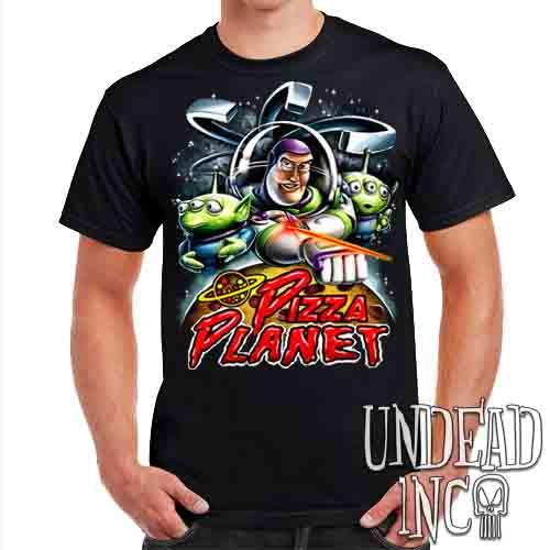 Pizza Planet Buzz - Mens T Shirt Mens T-shirts Undead Inc