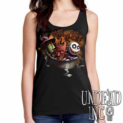 Nightmare Before Christmas Trick or Treat - Ladies Singlet Tank