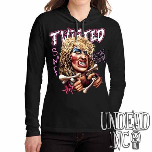 Twisted Sister Dee Snider - Ladies Long Sleeve Hooded Shirt Long Sleeve T Shirt Undead Inc