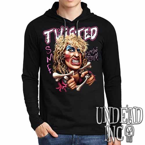 Twisted Sister Dee Snider - Mens Long Sleeve Hooded Shirt Long Sleeve T Shirt Undead Inc