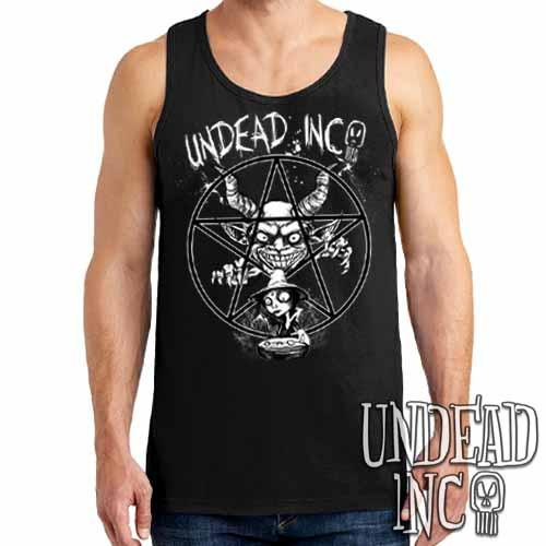 Demon Witch Pentagram Undead Inc - Mens Tank Singlet - Undead Inc Mens Tanks,