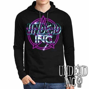 Undead Inc Pentagram - Mens Long Sleeve Hooded Shirt