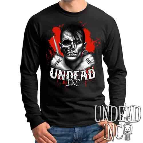 Punk Off Undead Inc Crossbones - Mens Long Sleeve Tee
