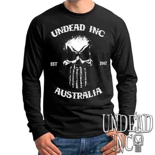 Undead Inc Australia Mortis Skull Rocker - Mens Long Sleeve Tee