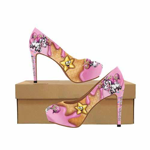 Ice Cream Unicorn Undead Inc Platform High Heels