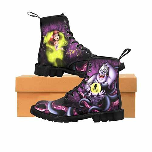 Villains Ursula LADIES Martin Boots - Tentacles Variant
