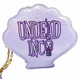Little Mermaid Ursula Undead Inc Clam Shell Shoulder Bag / Clutch With Removable Strap