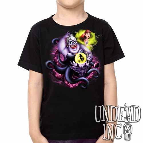 Villains Ursula - Ariel the Little Mermaid -  Kids Unisex Girls and Boys T shirt Clothing