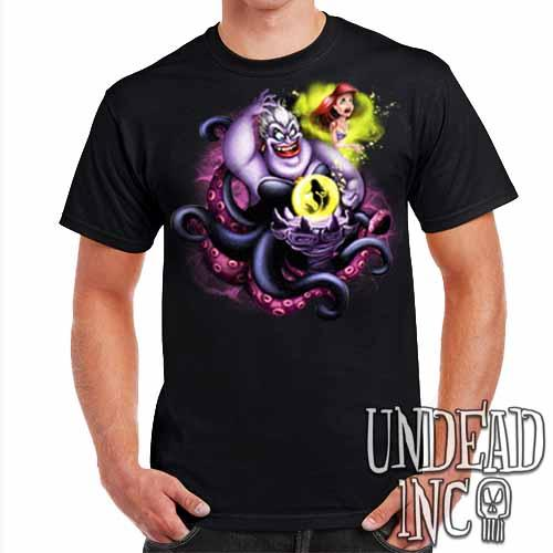 Villains Ursula - Ariel the Little Mermaid - Mens T Shirt Mens T-shirts Undead Inc