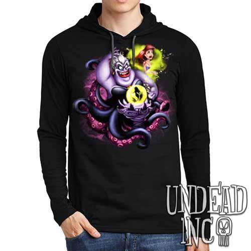 Villains Ursula - Ariel the Little Mermaid - Mens Long Sleeve Hooded Shirt